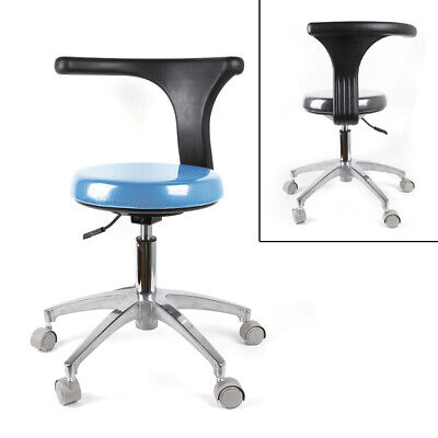 Medical Stool Dentists Chair360 Degree Rotation Armrest Pu Leather Adjustable