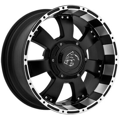 "4-Panther 815 18x9 6x135/6x5.5"" -12mm Black/Machined Wheels Rims 18"" Inch"