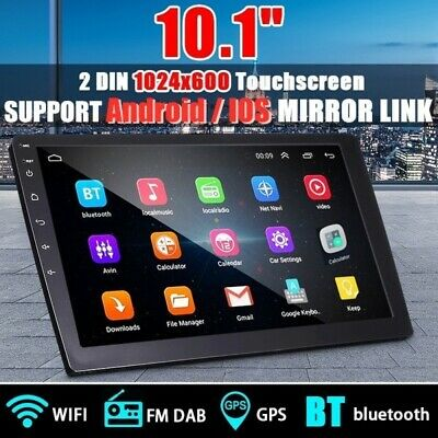 "Android 10.1"" Touchscreen 2DIN Car Stereo Radio MP5 Player Bluetooth WIFI GPS FM"