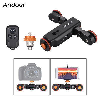 Andoer Motorized Camera Video Dolly Electric Track Slider Mini Skater For DSLR