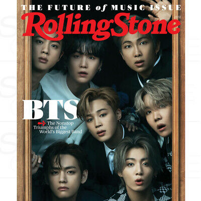 BTS Rolling Stone USA 2021 JUNE BTS Group Coverman + Tracking Number