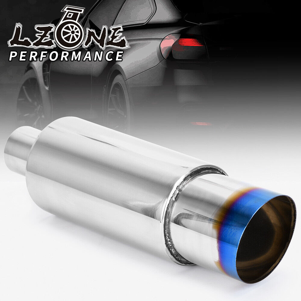 Weld Muffler Tip 2 Inlet 3 Outlet Stainless Steel Exhaust Pipe Chrome Effect Ebay