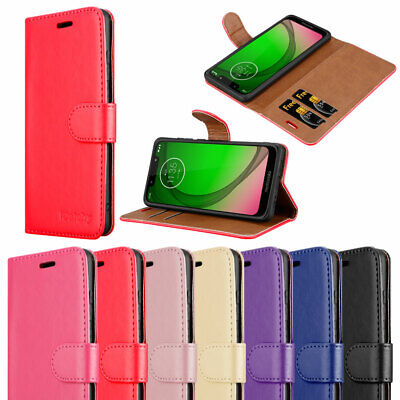 For Motorola Moto G7 Play Case Leather Magnetic Flip Card Wallet Phone Cover