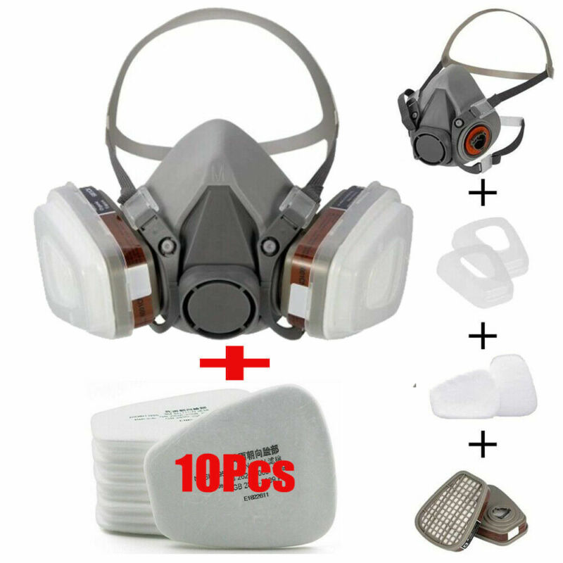 1/2X 17 in1 Half Face Gas Mask Facepiece Spray Painting Respirator Safety F 6200