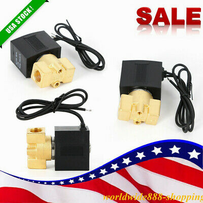 14 Inch 110v 120v Ac Brass Electric Solenoid Valve Air Gas Oil Water Air Nc Us