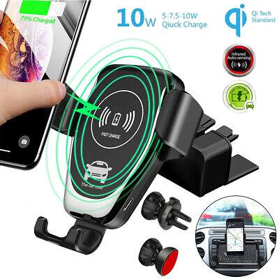10W Qi Wireless KFZ Ladegerät Handy Halterung Auto Halter Induktive Ladestation  ()