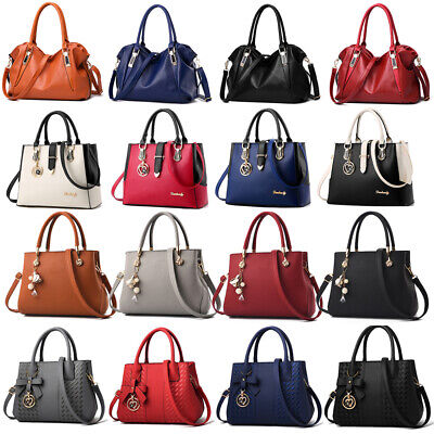 Women Lady Leather Handbag Shoulder Messenger Satchel Tote Hobo Crossbody Bag
