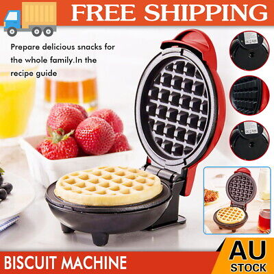 NEW Mini Waffle Maker Non Stick Snacks Pancake Cake Breakfast Making Machine AU