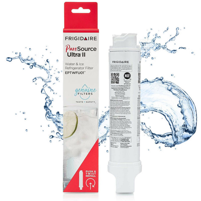 Fit Frigidaire EPTWFU01 PureSource Ultra II Refrigerator water filter, 1 Pack