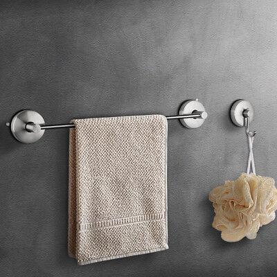 Vacuum Suction Cup Bath Towel Bar Towel Coat Hook Bathroom Accessory Set JOMOLA
