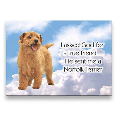 NORFOLK TERRIER True Friend From God FRIDGE MAGNET Dog