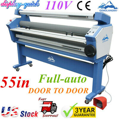 Us Stock 1400mm55in Full-auto Wide Format Cold Laminator With Heat Assisted