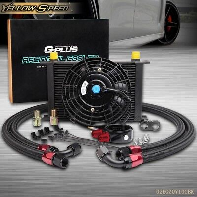 US 25 Row AN10 Engine Oil Cooler / Filter adapter hose Kit + 7