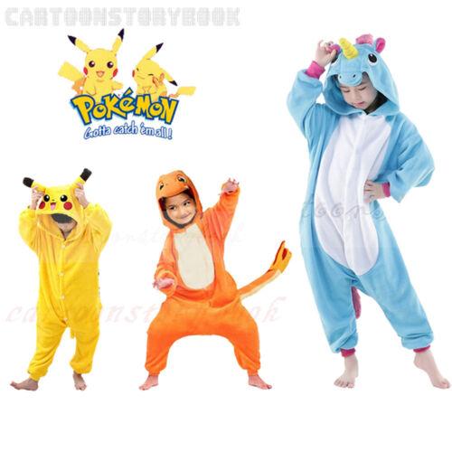 Kinder Pokémon Tier Pyjama Unisex-Kostüm Pikachu Kigurumi Cosplay Hoodie Overall