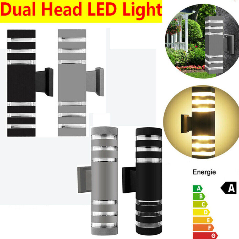Modern Dual Head Wall Light LED Sconce Outdoor Waterproof Porch Lamp Fixture US