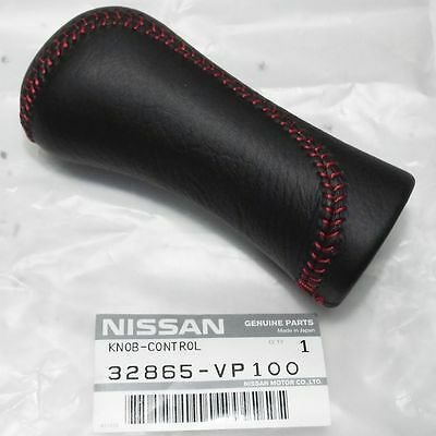 GENUINE FAIRLADY Z 300ZX Z32 LEATHER GEAR STICK SHIFT KNOB RED fit NISSAN OEM