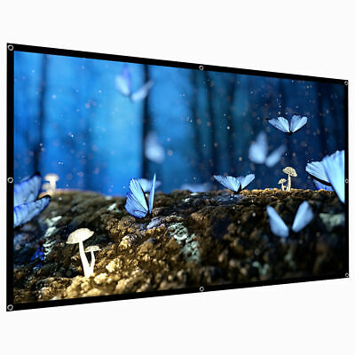 H60/84/150 Portable Projector Screen HD 16:9 Dacron Foldable