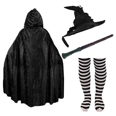 SCHOOL WITCH COSTUME ACCESSORIES WIZARD WORLD BOOK DAY ADULT KID FANCY DRESS - Witch Fancy Dress Accessories