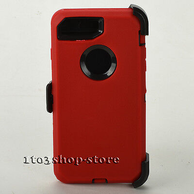 iPhone 7 Plus iPhone 8 Plus Case w/Holster Clip Fits Otterbox Defender Red Black
