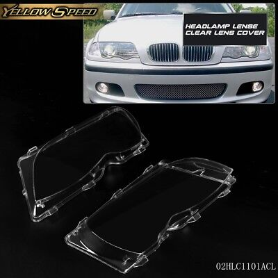 2pcs Headlight Clear Lense Cover For BMW E46 3-series 4DR 2002-2005 ()