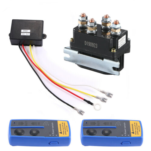 For ATV UTV Winch Solenoid Relay Contactor Replacement 12V 500A 8000lb-12000lbs