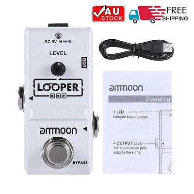Nano Guitar Effect Pedal Looper 10 Min Recording Overdubs Undo Redo&Delete P4Z6