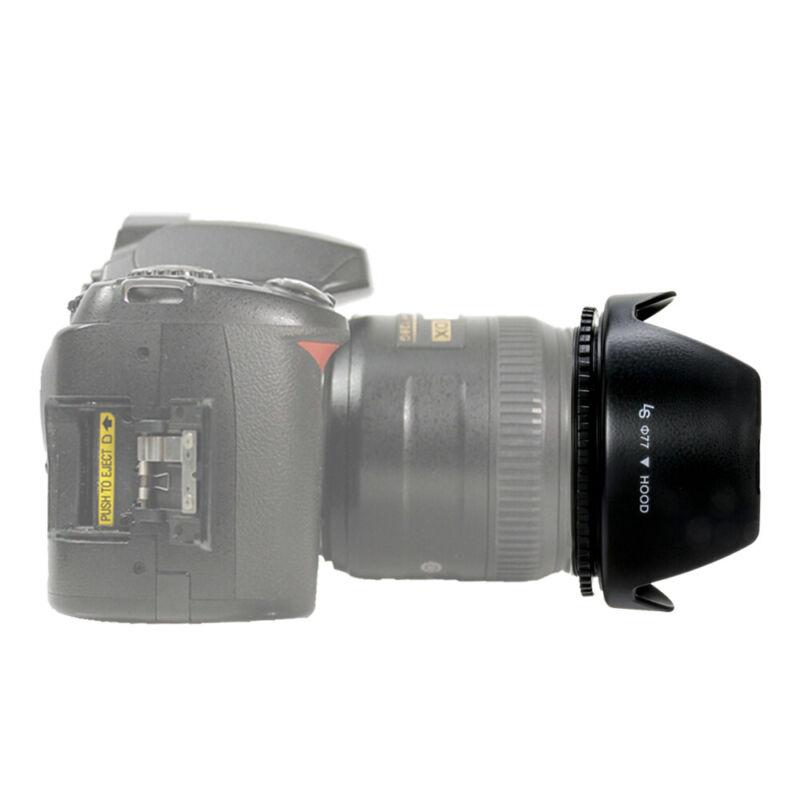 77MM Tulip Petal Flower Lens Hood for Canon Nikon Sony Pentax DSLR Camera 1PACK