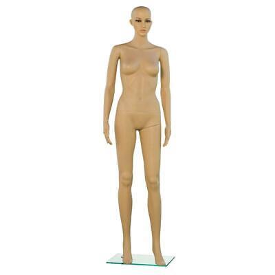 Female Full Body Realistic Mannequin Display Head Turns Dress Form Wbase