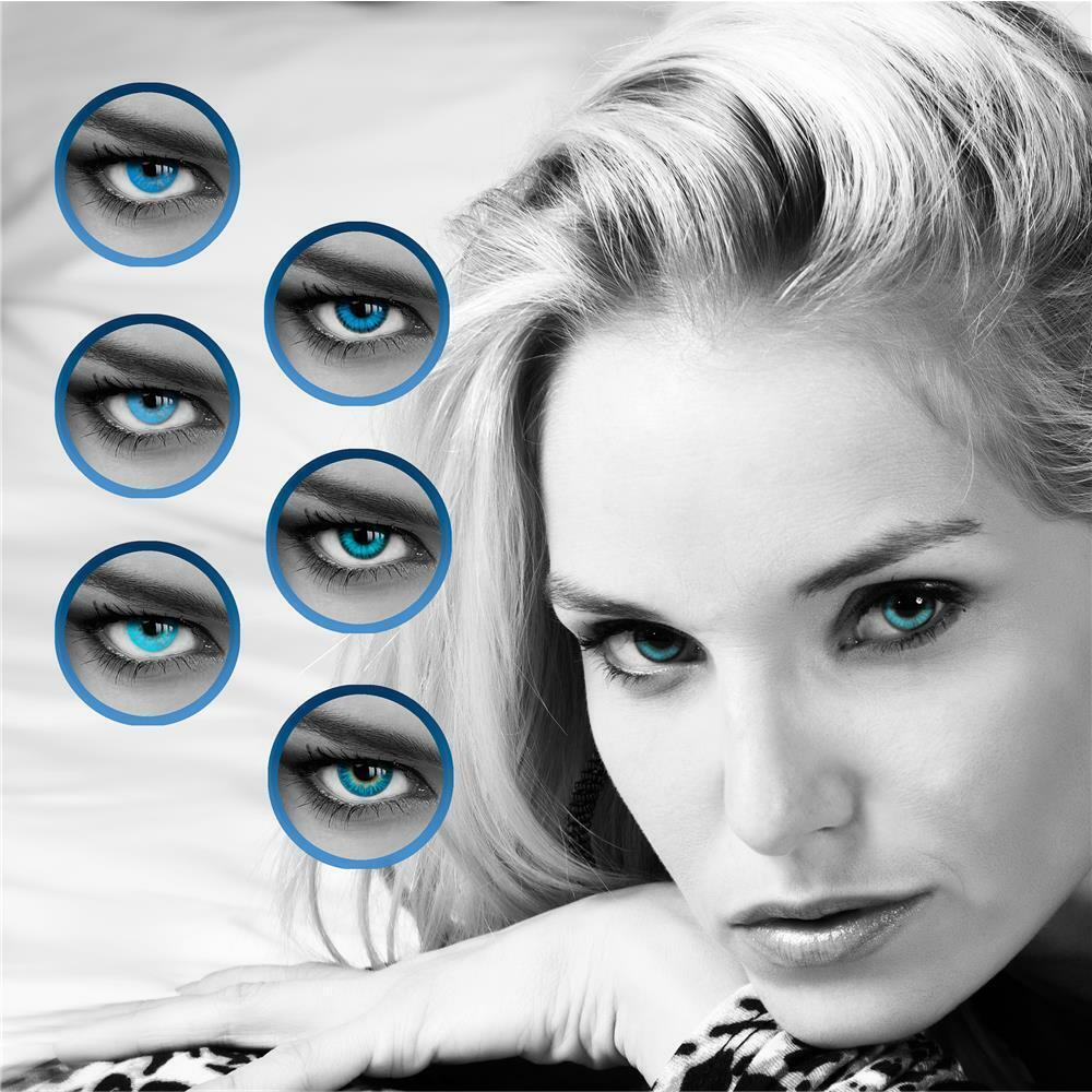 Farbige Kontaktlinsen - Blaue Linsen - LUXDELUX® - Jahreslinsen - TOP