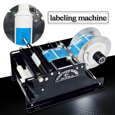 Semi-automatic Round Bottle Label Paste Labeling Machine Labeler Electric Manual