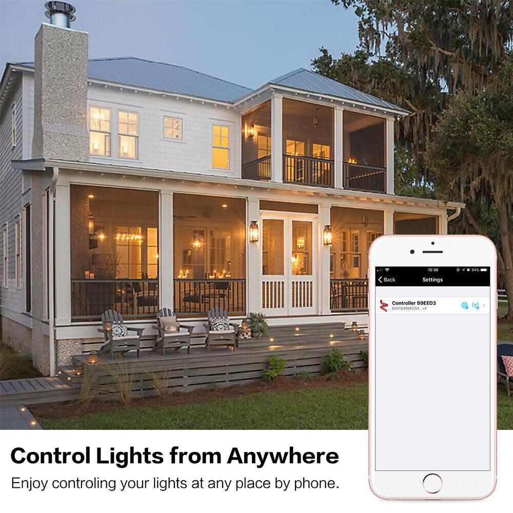 6er 45mm RGB WIFI Kontroller LED Einbaustrahler Boden Außen Terrasse Einbauspot