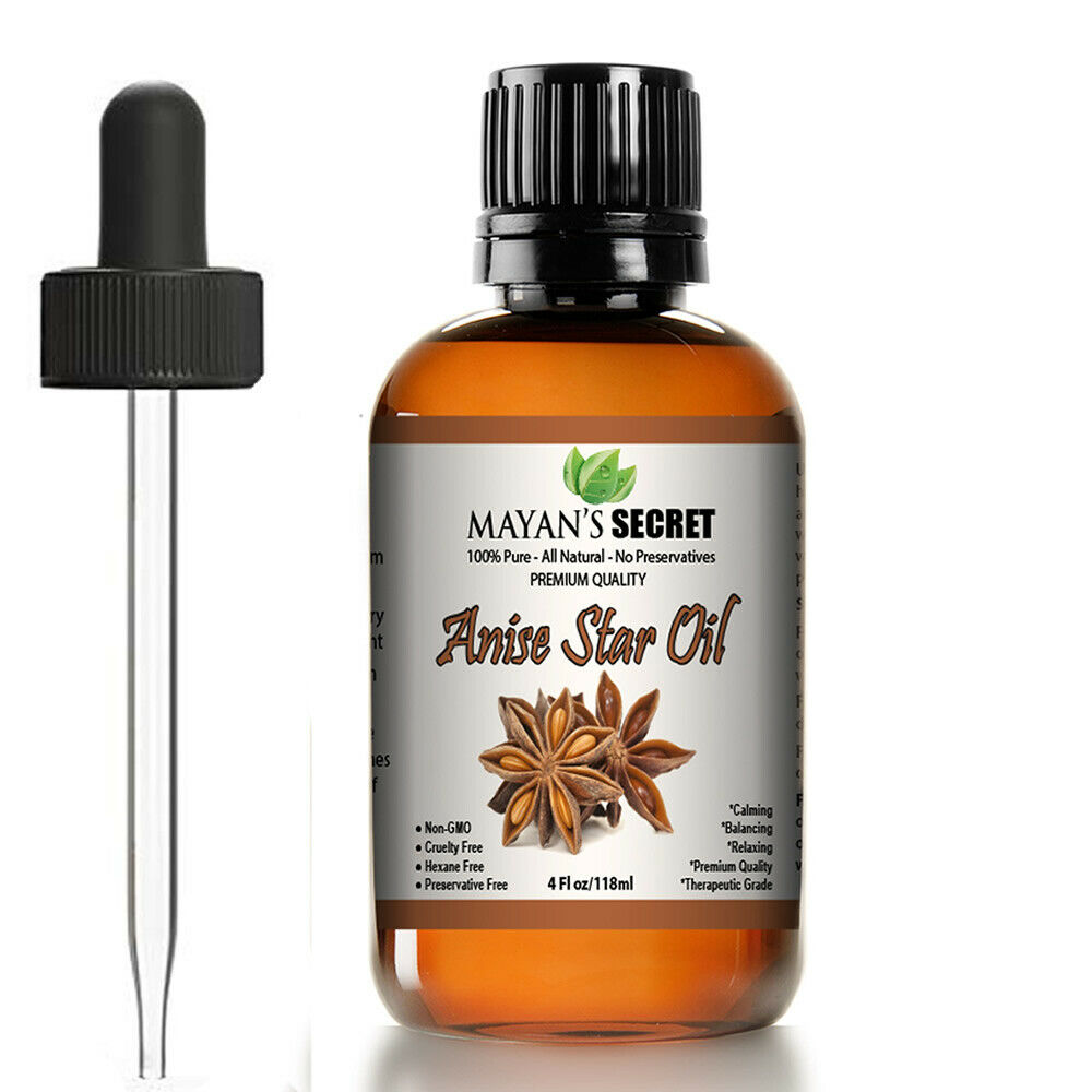 Anise Star Essential Oil – 100% Pure Virgin Natural -US Seller!Huge 4oz Aromatherapy