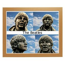 New Framed Abstract Print of the The Beatles Size 20 x 16