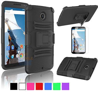 For Motorola Nexus 6 Google Hybrid Combo Rugged Stand Case Cover Holster (Hybrid Combo)