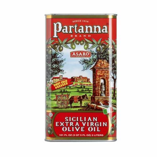 Partanna Extra Virgin Olive Oil 101 Ounce Tin