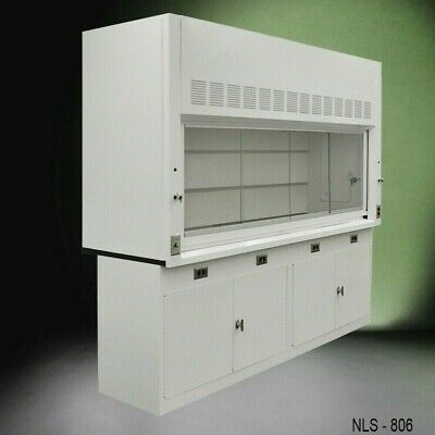 Laboratory Chemical 8 Fume Hood Benchtop W Furniture Cabinets E2-032
