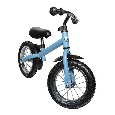 Safetots Ultimate Child Balance Bike - Kids Metal Safety Training Bike - Blue