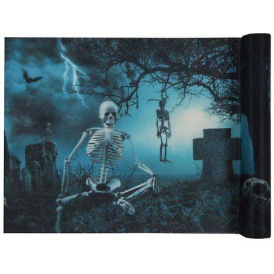 Tischband Tischläufer Skelette am Friedhof Halloween Horror Grusel Dekoration (Halloween Friedhofs Dekorationen)