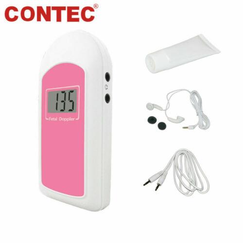 FDA Baby Sound B Fetal Doppler Handheld Baby Heart Beat Monitor LCD Free GeL USA