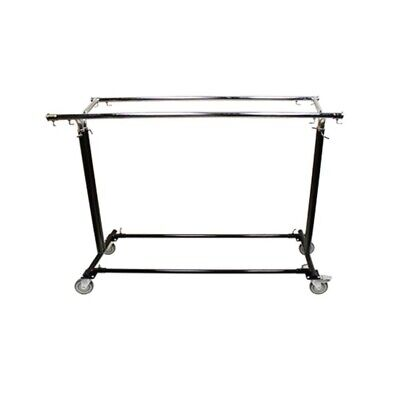 Retail Clothes Clothing Garment Rack Adjustable Parallel Hanger Bar With Wheels