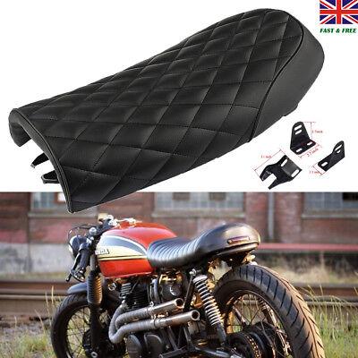 MOTORCYCLE CAFE RACER BRAT FLAT SEAT HUMP SADDLE  FOR HONDA GB <em>YAMAHA</em>