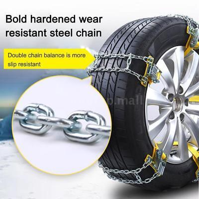 Wheel Tire Snow Anti-skid Chains for Car Truck SUV Emergency Winter 1X Universal