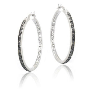 Black-Diamond-Accent-30mm-Round-Hoop-Earrings