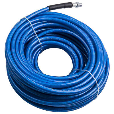 100ft Carpet Cleaning Solution Hose 14 Steel Braided Quick Connector 275