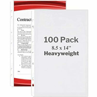 Dunwell Legal Size Sheet Protector - Heavyweight 100 Pack 8.5x14 Paper 7