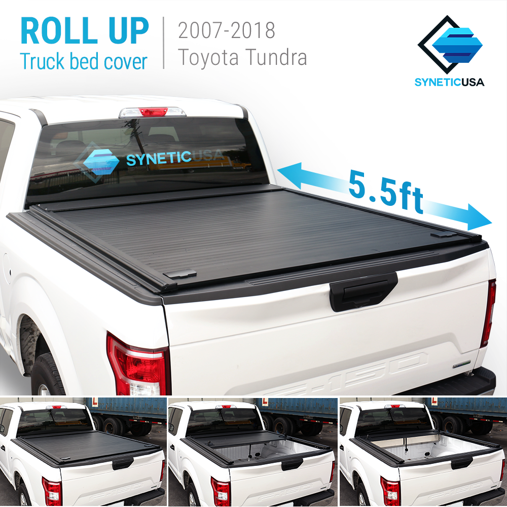 Tundra Bed Cover >> Details About Aluminum Retractable Roll Up Tonneau Truck Bed Cover For 2007 2018 Tundra 5 5ft