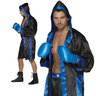 Mens Boxer Costume Down for the Count Fancy Dress Sports Outfit - Space Outfits For Adults