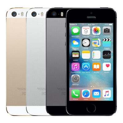 APPLE iPHONE 5S 16GB/32GB/ 64GB - Unlocked - Black/White/Gold Smartphone Mobile