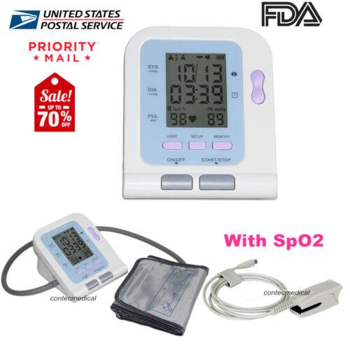 FDA Digital Blood Pressure Monitor Machine NIBP+SpO2, Adult Cuff+Probe,CONTEC08C