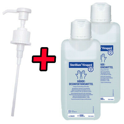 2x Sterillium Virugard 500 ml + 1x Original Bode Dosierpumpe guard Desinfektion